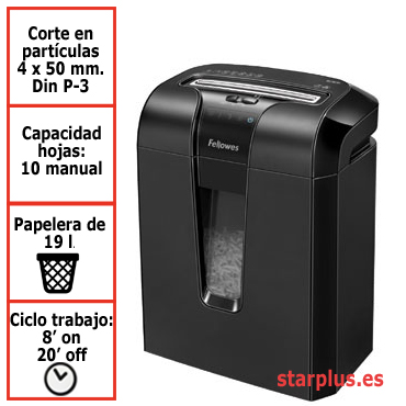 Destructora papel Fellowes 63Cb uso moderado &4600101