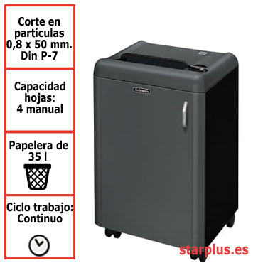 Destructora papel Fellowes 1050HS microcorte uso continuo &4603801