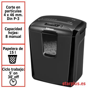 Destructora papel Fellowes M-8C uso moderado &4604101