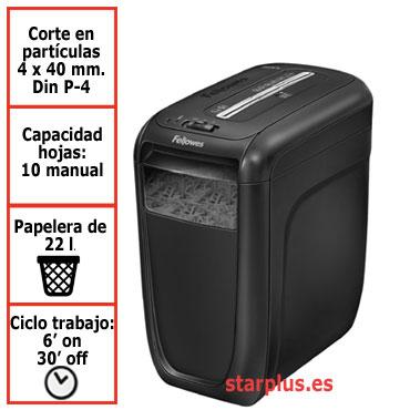 Destructora papel Fellowes 60Cs uso moderado 4606101