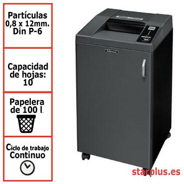 Destructora papel Fellowes 3250SMC microcorte uso continuo &4617301