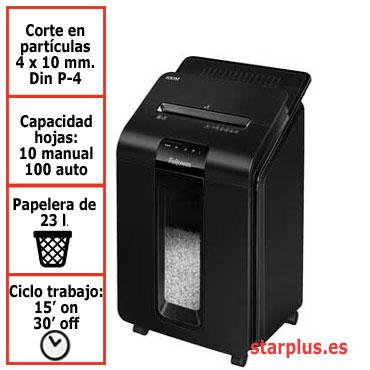 Destructora papel Fellowes Automax 100M automática microcorte 4629201
