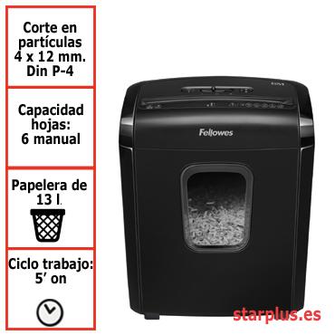 Destructora papel Fellowes 6M uso moderado 4631101
