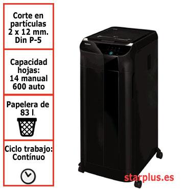 Destructora papel Fellowes Automax 600M automática microcorte 4657401