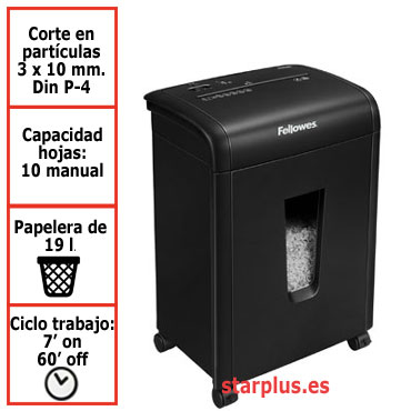 DESCATALOGADA. Destructora papel Fellowes 62Mc uso moderado 4685201