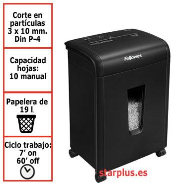 Destructora papel Fellowes 62Mc uso moderado 4685201