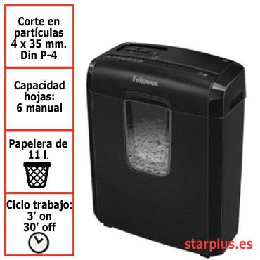 Destructora papel Fellowes 3C uso moderado 4687401