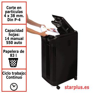 Destructora papel Fellowes Automax 550C automática