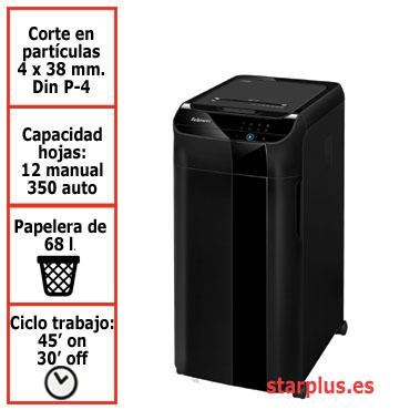 Destructora papel Fellowes Automax 350C automática