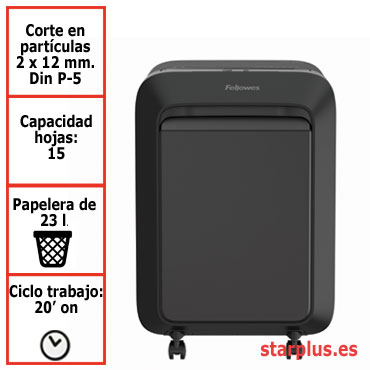 Destructora papel Fellowes LX211 negra uso moderado 5050201