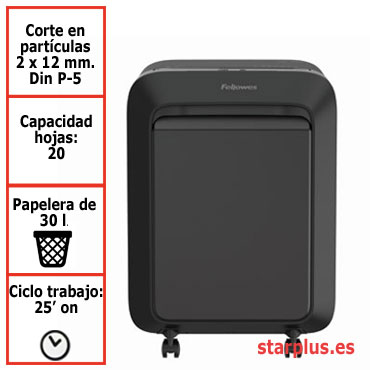 Destructora papel Fellowes LX221 negra uso moderado 5050401