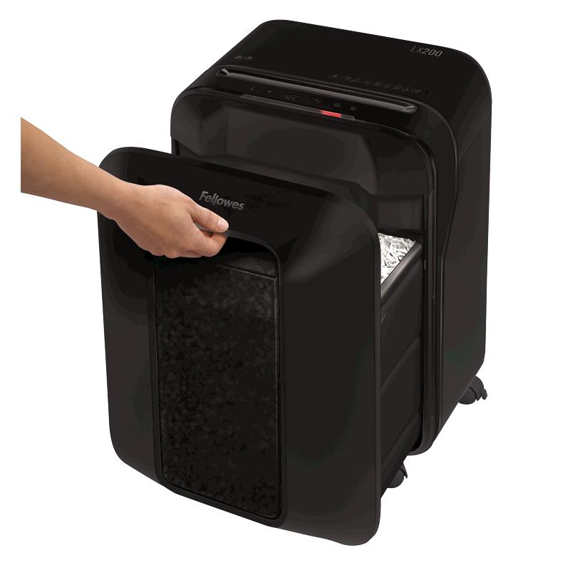 Destructora papel Fellowes LX200 negra uso moderado 5502201