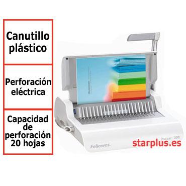 Encuadernadora Fellowes Pulsar E eléctrica canutillo plástico 5620701