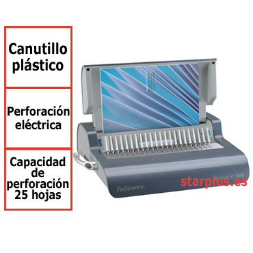 Encuadernadora Fellowes Quasar E eléctrica canutillo plástico 5620901
