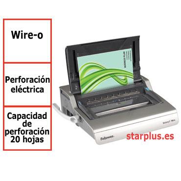 Encuadernadora eléctrica Fellowes Galaxy E Wire para wire-o