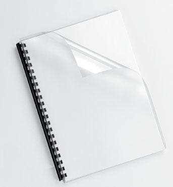 Pack de 100 portadas PVC transparente cristal A4 200 micras