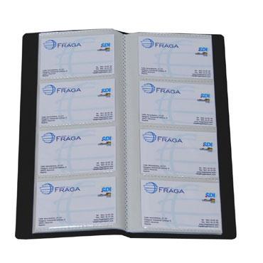 Tarjetero negro 160 tarjetas Office Box 24268