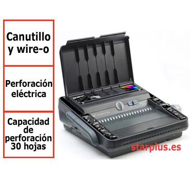 Encuadernadora GBC MultiBind 230E para canutillo plástico y espiral metálico