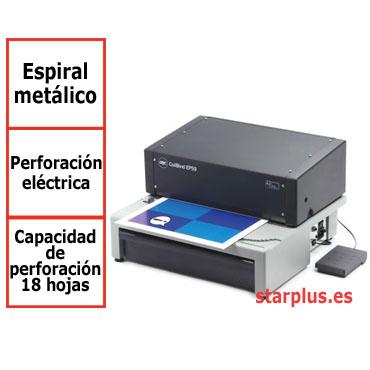 Encuadernadora eléctrica GBC CoilBind EP59 para espiral metálico