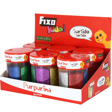 Purpurina metalizada 6 colores 80 g. Fixo 00039399