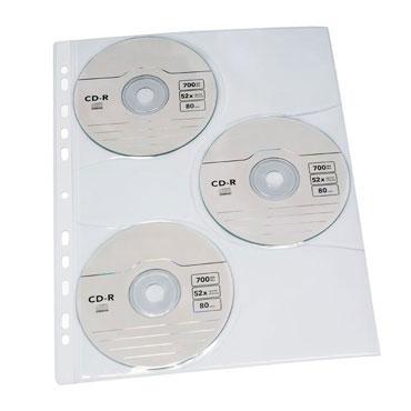 10 fundas 3CD's PP Din A-4 Grafoplás 13670000
