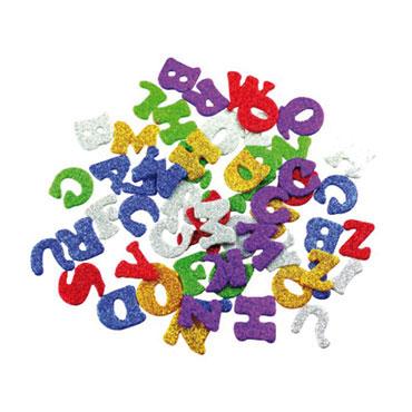78 letras de EVA adhesivas purpurina Fixo 68002400
