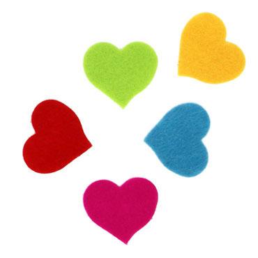 30 corazones fieltro adhesivo Fixo 68003800