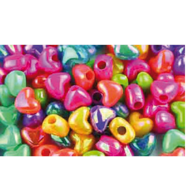 Abalorios corazones plástico 40 g. Fixo 68004300