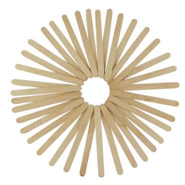 50 palos de madera natural finos 11,4 cm. Fixo 68005200