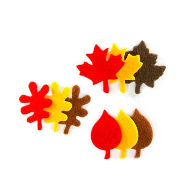 27 hojas de otoño fieltro adhesivo Fixo 68048500