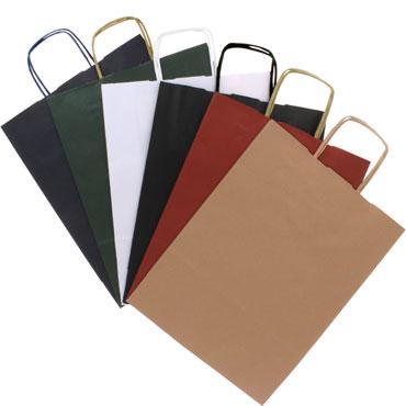 4 bolsas de asa negras 23x18x18 cm. Grafoplás