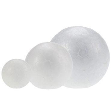 3 bolas poliespán 10 cm. Fixo 68008500