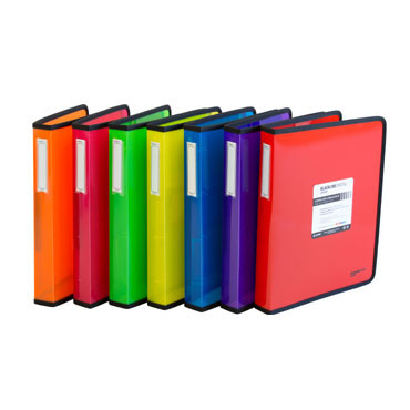 Carpeta de 4 anillas de 40 mm. Blackline naranja Grafoplás 30120652