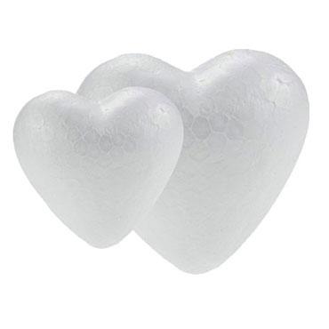6 corazones poliespán 9,4 cm. Fixo 68007000