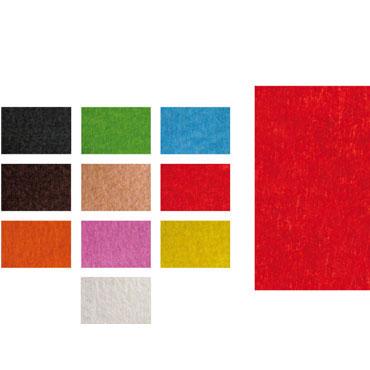 Fieltro rojo 10 planchas de 20x30 cm. Fixo 00040051