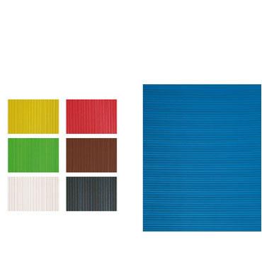 5 láminas EVA corrugada azules 40x60 cm Fixo 00036730