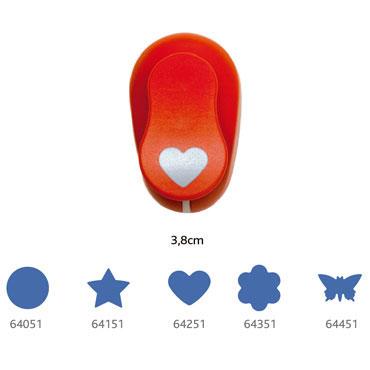 Perforadora goma EVA 3,8 cm. mariposa Fixo 00064451