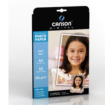 50HJ papel Performance mate Din A-4 180 g/m² Canson 200004319
