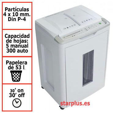 Destructora papel IDEAL 8283 auto-feed uso moderado