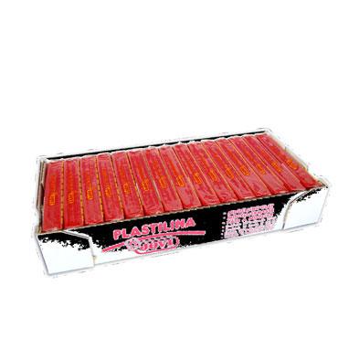 15 pastillas plastilina 150 g. rubí Jovi 7106