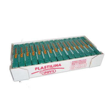 15 pastillas plastilina 150 g. verde oscuro Jovi 7111