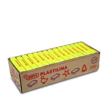 15 pastillas plastilina 350 g. amarillo Jovi 7202