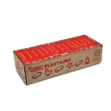 15 pastillas plastilina 350 g. roja Jovi 7205