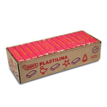 15 pastillas plastilina 350 g. rubí Jovi 7206