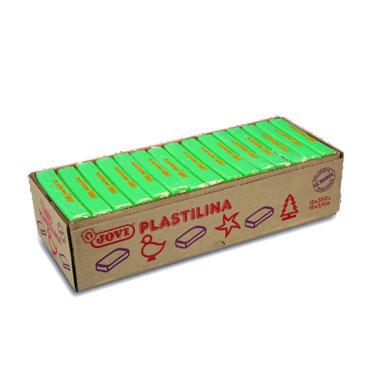 15 pastillas plastilina 350 g. verde claro Jovi 7210