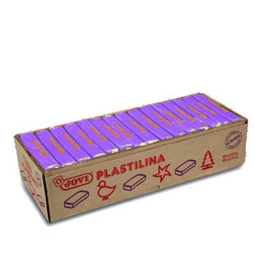 15 pastillas plastilina 350 g. lila Jovi 7214