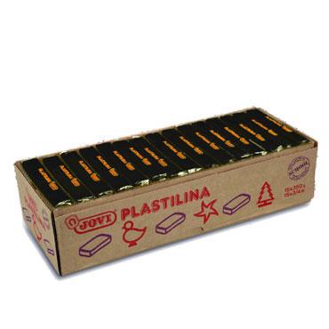 15 pastillas plastilina 350 g. negra Jovi 7215