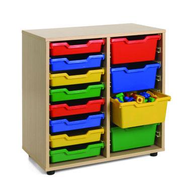 Cubetero 2 columnas 70x76,5x40 cm. Mobeduc 600210