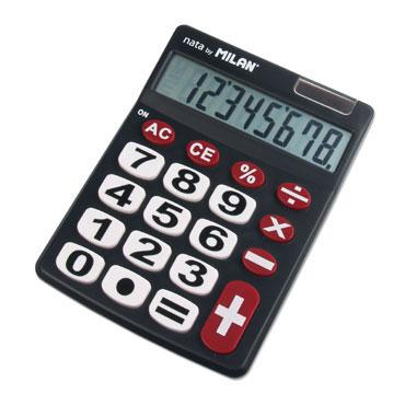 Calculadora teclas grandes 8 dígitos Milan 151708BL