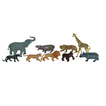 9 figuras de Animales Selva Miniland 25119